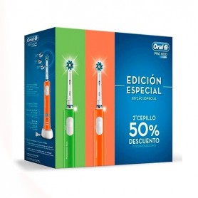 CEPILLO DENTAL ELECTRICO BRAUN PRO600 EVOLUCIONA PACK X2