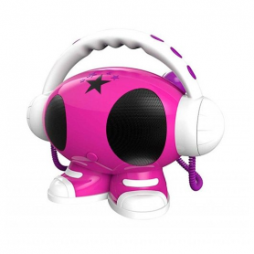 RADIO CD USB BIGBEN ROBOT02 ROSA BLANCO