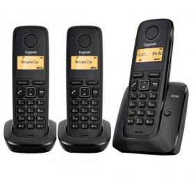TELEFONO INALAMBR DIGITAL GIGASET A120 TRIO NEGRO