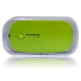 RATON OPTICO KL TECH VUELO WIRELESS VERDE