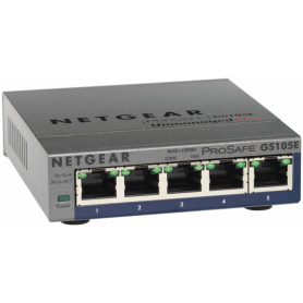 HUB SWITCH 5 PTOS NETGEAR 10 100 1000 GS105E