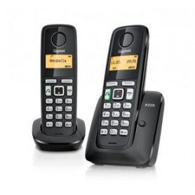 TELEFONO INALAMBRICO DECT DIGITAL GIGASET AS405 DUO