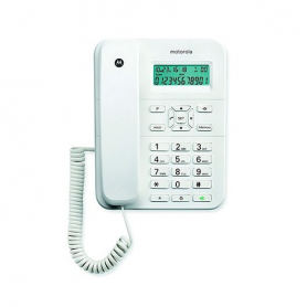 TELEFONO CON CABLE DIGITAL MOTOROLA CT202 BLANCO