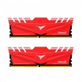 MODULO DDR4 32GB 2X16GB PC3200 TEAMGROUP DARK Z ROJO CL 16